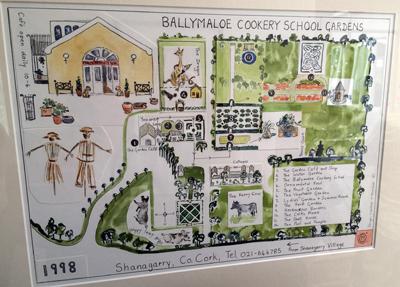 Ballymaloe Garden Map