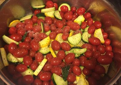 Zucchini and tomato