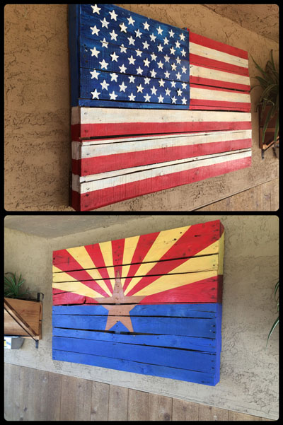 pallet flags