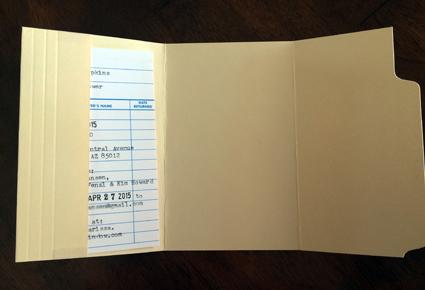 card in folder