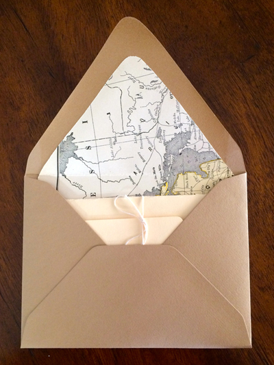 lined envelope
