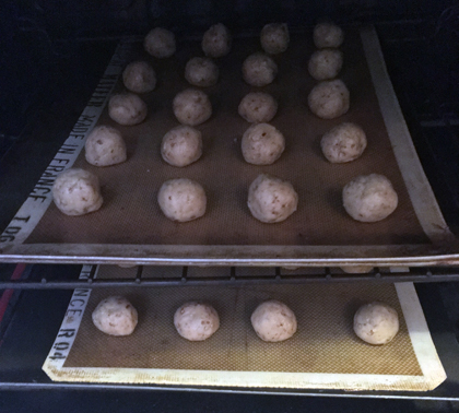 into oven