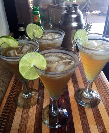 bourbon lime maple cocktail