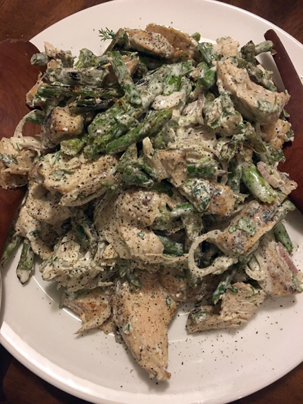 chicken asparagus goat cheese