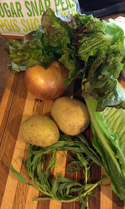 snap pea lettuce soup