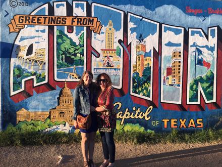 Austin, TX postcard mural