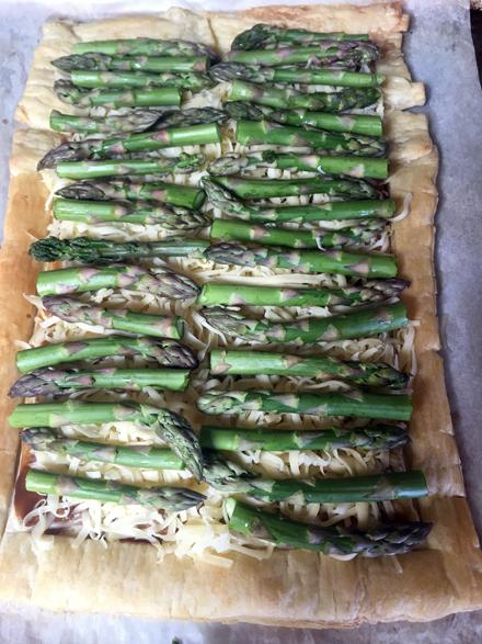 add cheese asparagus