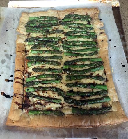 asparagus jarlsberg tart