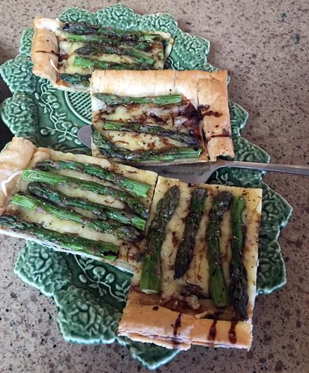 asparagus swiss tart