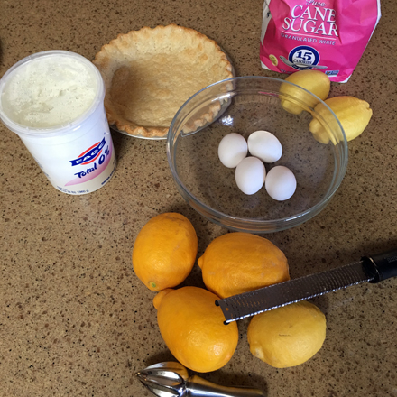 lemon pie fixings
