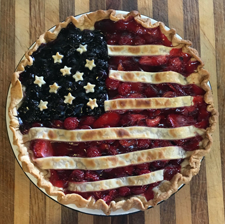 berry cherry flag pie