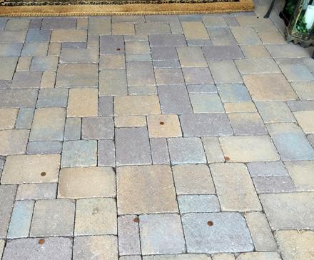 pennies on the pavers