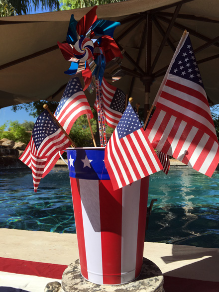 flag bucket