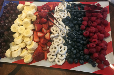 flag snack tray