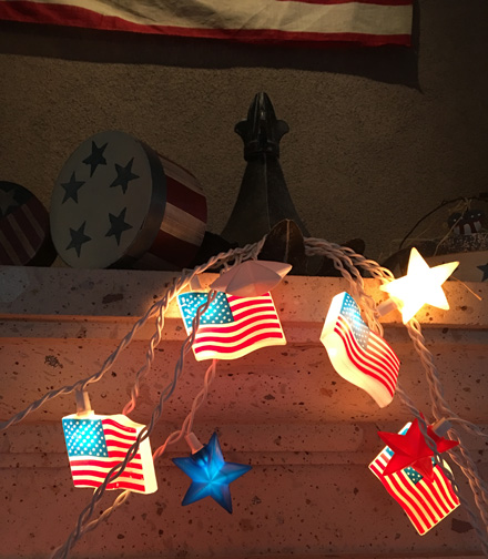 flag star lights