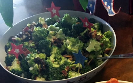 lazarus broccoli raisin salad