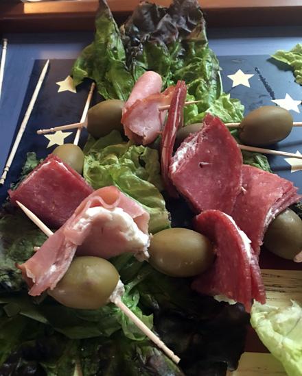 olive salami picks