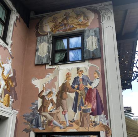 Oberammergau painted buildings
