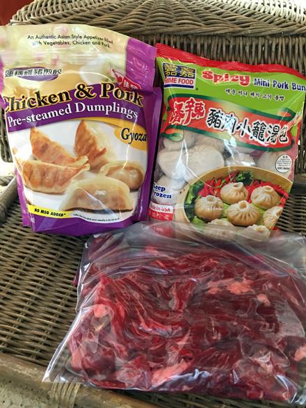 dumplings and flap steak
